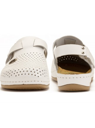 Женские тапочки Сабо | 951 (Белые)