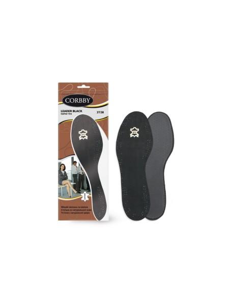 Кожаные стельки Leder black